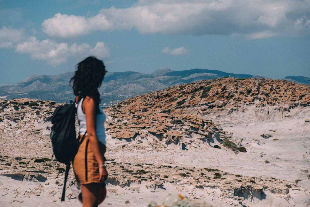 Paros Greece woman traveling island