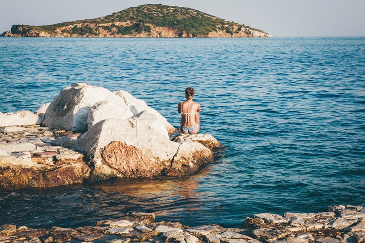 Skiathos- island - women - peaceful- waters